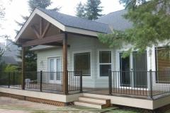 Custom Deck Cover - Deck & Deck Railing all designed & installed by Skyline Deck - Skylinedecks.com