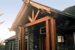 Custom Vaulted Porch Cover Built by Skyline Deck & Construction - Skylinedecks.com