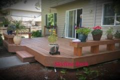 Custom Deck with Benches Built by Spokane Deck Builder Skyline Deck & Construction - Skylinedecks.com
