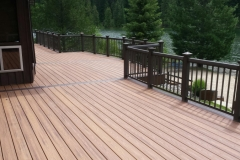 Custom Trex Deck & Rail Built by Skyline Deck Builders - Hayden Idaho - Skylinedecks.com