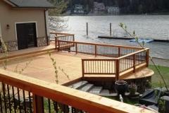 Custom Wood Deck and Custom Deck Railing Built by Skyline Deck Builders - Hayden Idaho - Skylinedecks.com