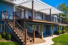 Trex Custom Deck and Pergola Built by Spokane Deck Builder Skyline Deck