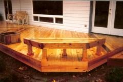 Custom Built Cedar Deck and Bench by Idaho Deck Builders Skyline Deck - Skylinedecks.com