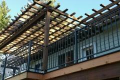 Custom Wood Pergola - Custom Deck & Railing - Skyline Deck - Hayden Idaho - Skylinedecks.com