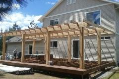 Custom Wood Pergola & Deck Built by Deck Builder Spokane - Skylinedecks.com