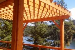 Custom Cedar Pergola Designed by Skyline Deck & Construction - Skylinedecks.com