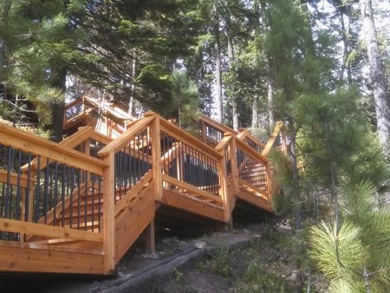 Cedar Handrails